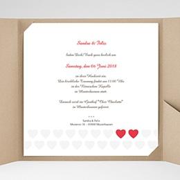 Hochzeitskarten Quadratisch Romantic Love