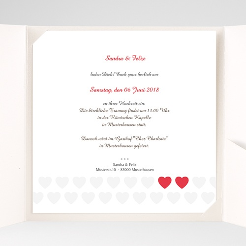 Hochzeitskarten Quadratisch - Romantic Love 37485 preview