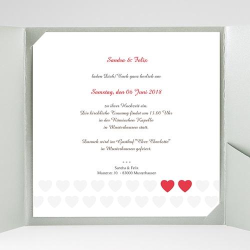 Hochzeitskarten Quadratisch - Romantic Love 37486 test