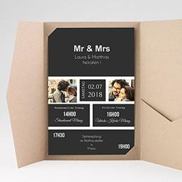 Hochzeitskarten Querformat Unzertrennlich