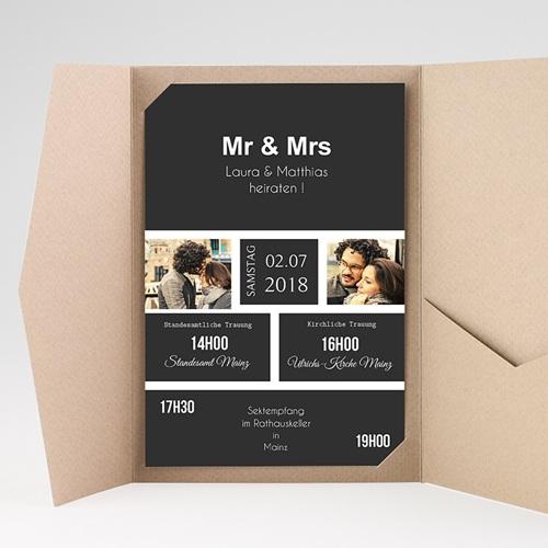 Hochzeitskarten Querformat - Unzertrennlich 37508 preview