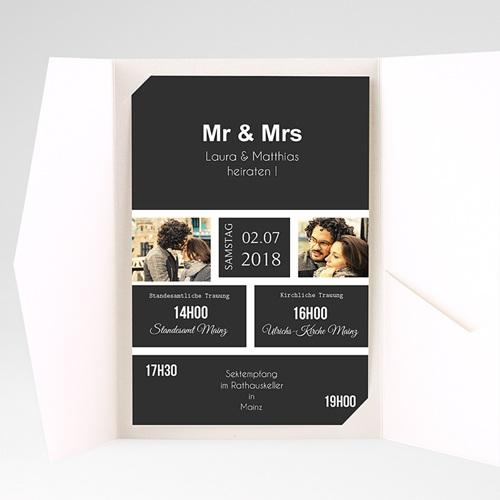 Hochzeitskarten Querformat - Unzertrennlich 37509 preview