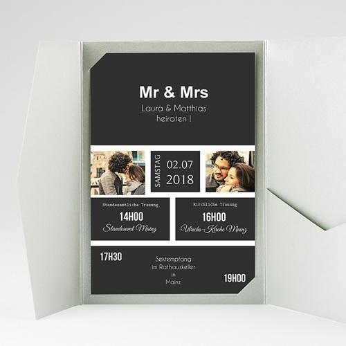 Hochzeitskarten Querformat - Unzertrennlich 37510 preview