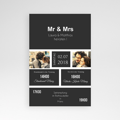 Hochzeitskarten Querformat - Unzertrennlich 37511 preview