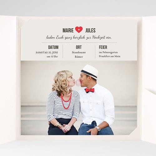 Hochzeitskarten Quadratisch - Vintage Rot 37521 preview
