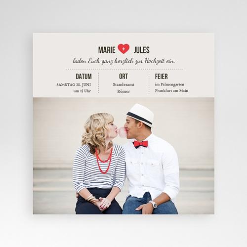 Hochzeitskarten Quadratisch - Vintage Rot 37523 test