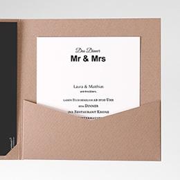 Einlegekarten Mr und Mrs