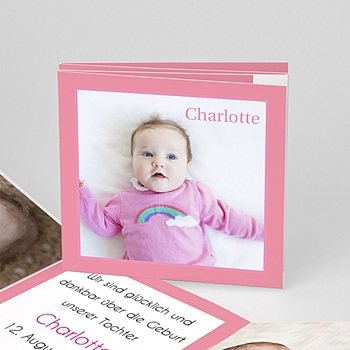 Geburtskarten für Mädchen - Babykarte Leporello - 1