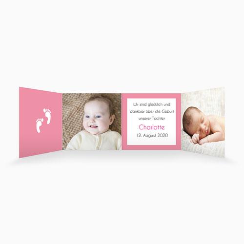 Geburtskarten für Mädchen - Leporello 3757 thumb