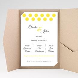 Karten Hochzeit Zitronengelb