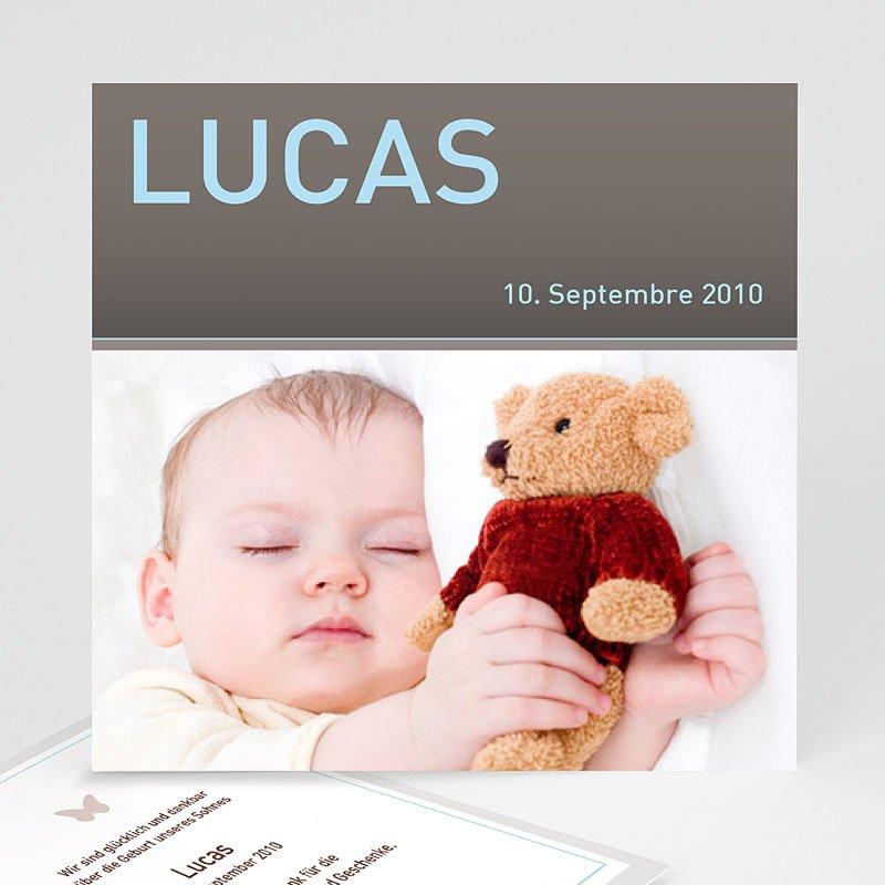 Geburtskarten für Jungen Lucas