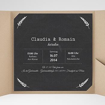 Hochzeitskarten Quadratisch - Tafelstil chic - 0