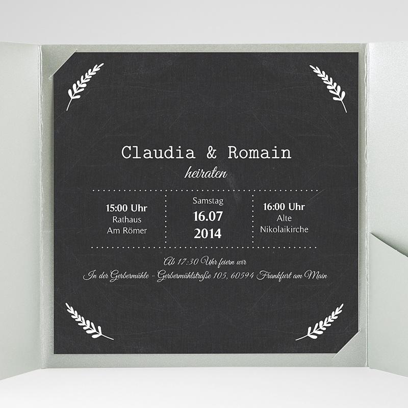 Hochzeitskarten Quadratisch Tafelstil gratuit