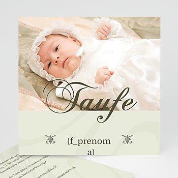 Einladungskarten Taufe Mädchen - Taufkarte beige - 1