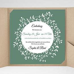 Hochzeitskarten Quadratisch Diadem