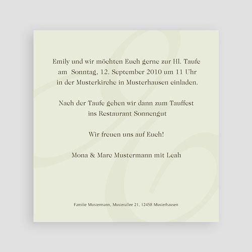 Einladungskarten Taufe Mädchen - Elly 3773 preview