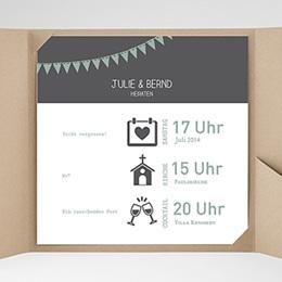 Hochzeitskarten Quadratisch - Festive - 0