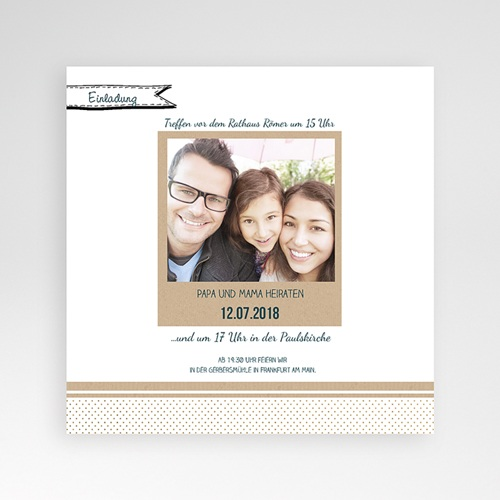 Hochzeitskarten Quadratisch - Detailverliebt 37787 preview