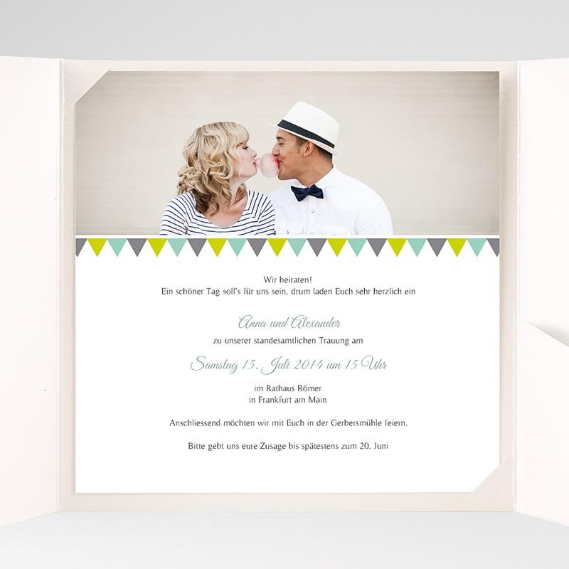 Hochzeitskarten Quadratisch Vintage Charme pas cher