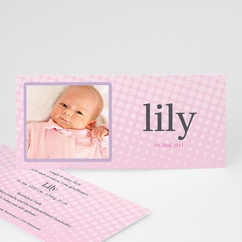 Geburtskarten für Mädchen - Lily Rose 3780