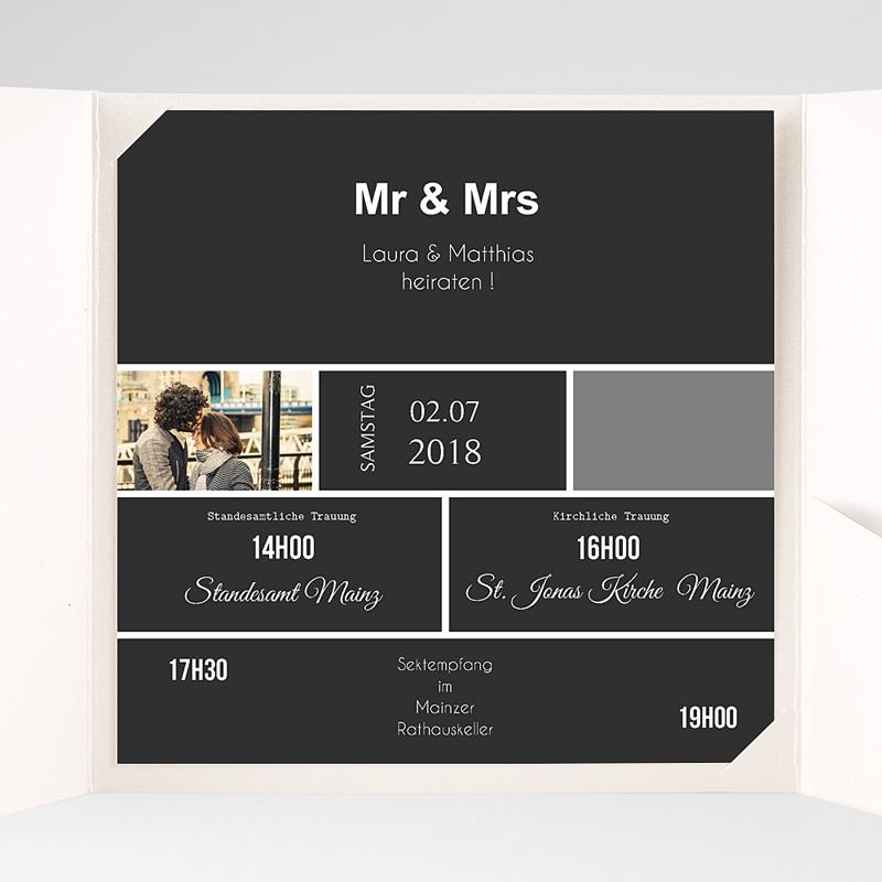 Hochzeitskarten Quadratisch Mr und Mrs pas cher
