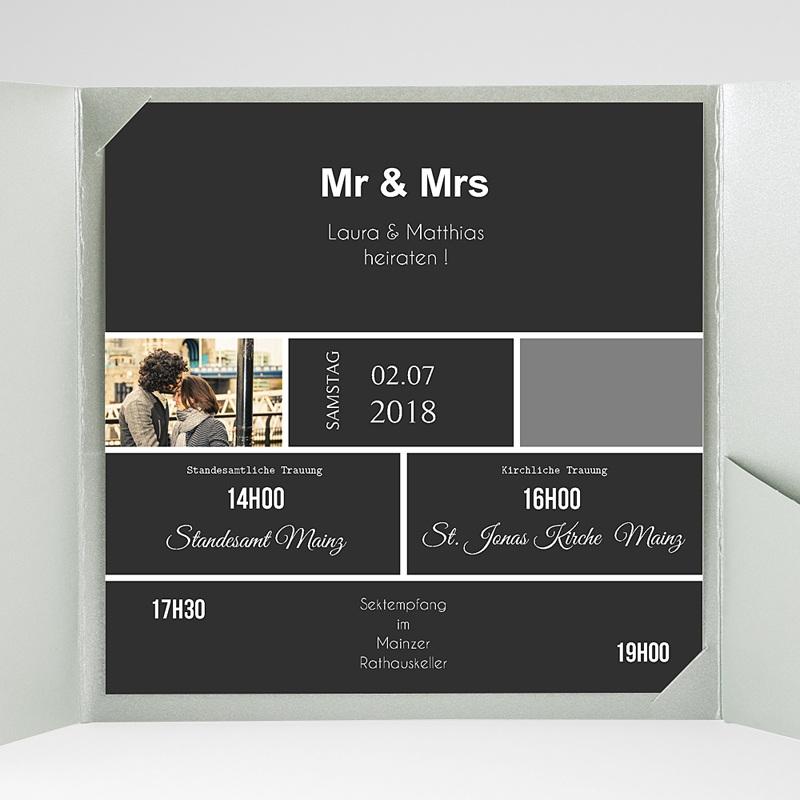 Hochzeitskarten Quadratisch Mr und Mrs gratuit