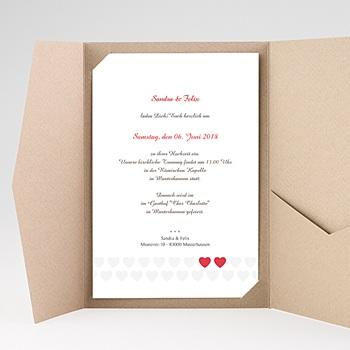Hochzeitskarten Querformat - Zwei Herzen - 0