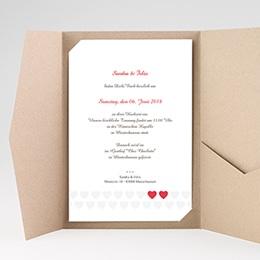Hochzeitskarten Querformat Doppelherz