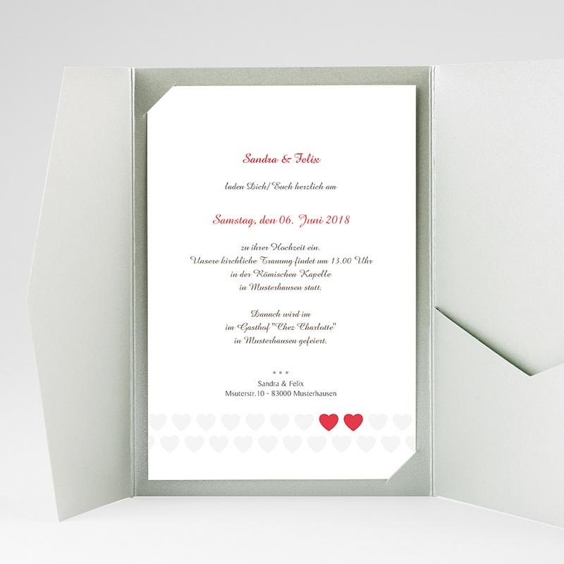 Hochzeitskarten Querformat Doppelherz gratuit