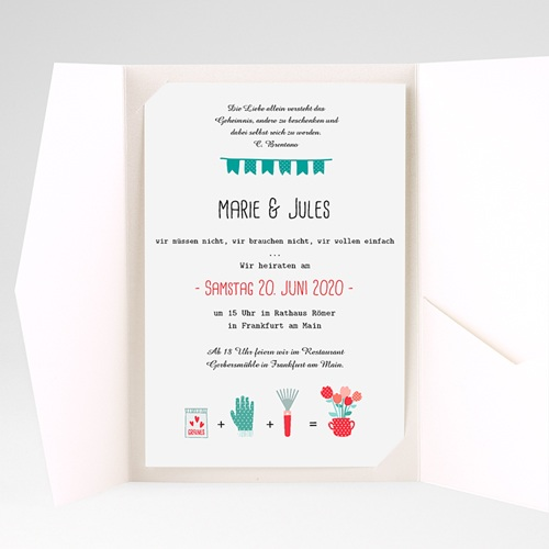 Hochzeitskarten Querformat Beet pas cher