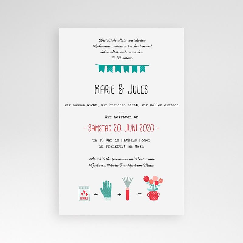 Hochzeitskarten Querformat Beet