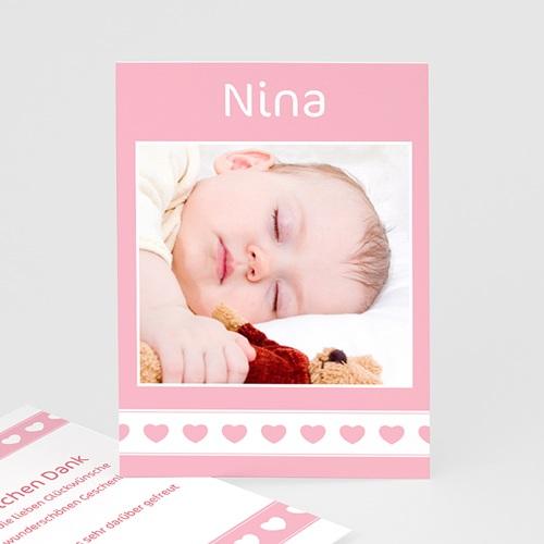 Dankeskarten Geburt Mädchen - Nina 3784
