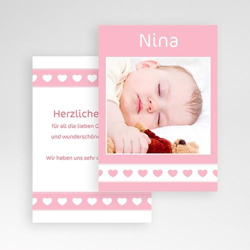 Dankeskarten Geburt Mädchen - Nina 3785 preview