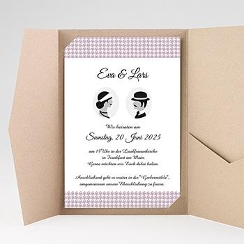 Hochzeitskarten Querformat - Lady and Gentleman - 0