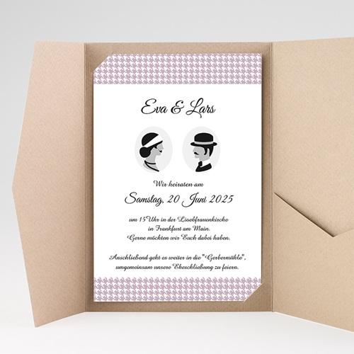 Hochzeitskarten Querformat - Frisch getraut 37868 preview