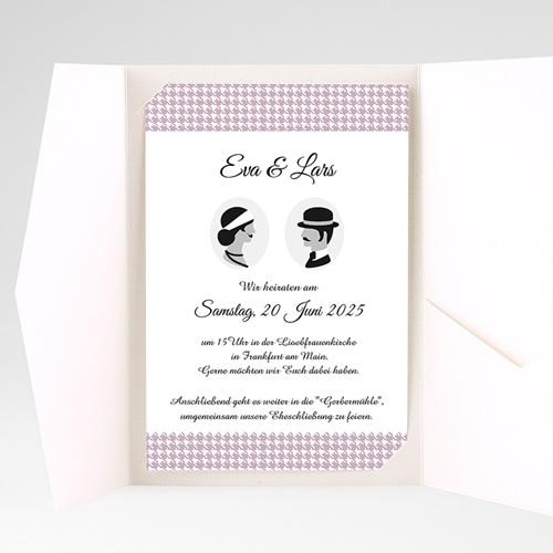 Hochzeitskarten Querformat - Frisch getraut 37869 preview