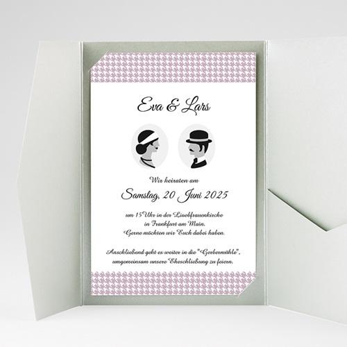 Hochzeitskarten Querformat - Frisch getraut 37870 preview
