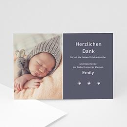 Dankeskarten Geburt Mädchen 1000 Dank