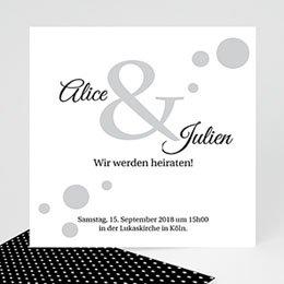 Hochzeitseinladungen Schwarz-Weiß Traumhaft elegant