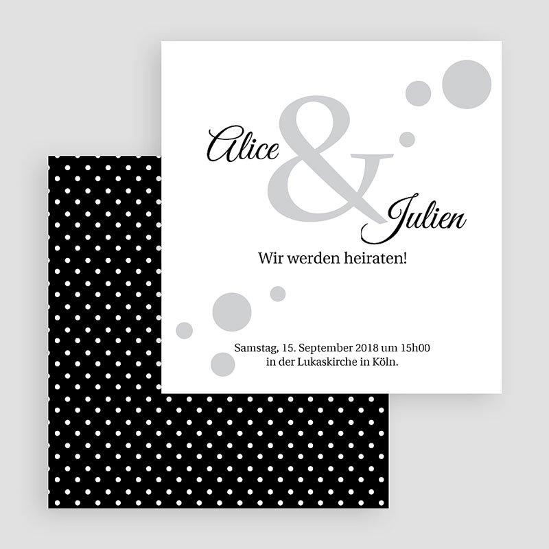Schwarz-Weiß Hochzeitseinladungen Traumhaft elegant  gratuit