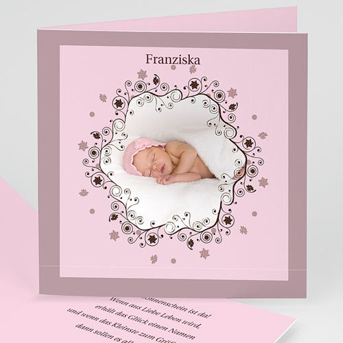 Geburtskarten für Mädchen - Sternstaub 3804