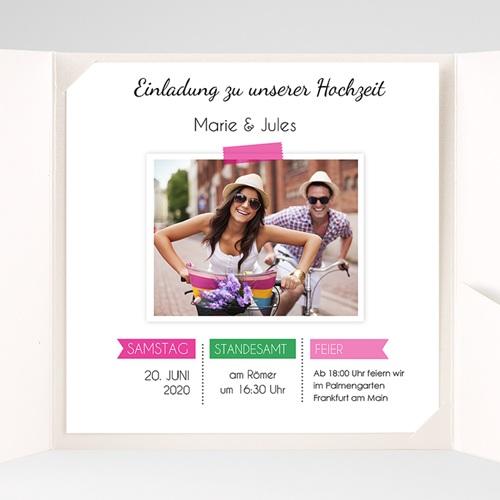 Hochzeitskarten Quadratisch - Pop 38058 preview