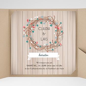 Hochzeitskarten Quadratisch - Landhochzeit - 0