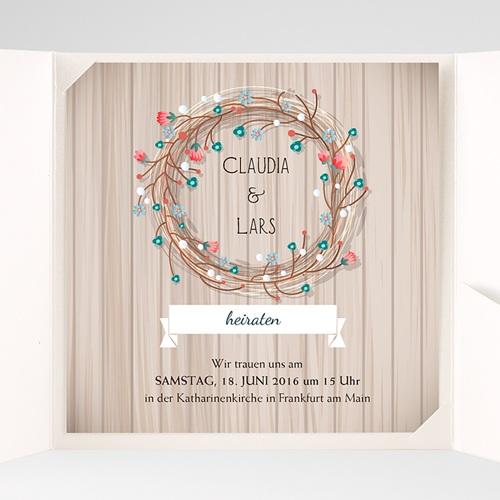 Hochzeitskarten Quadratisch - Landhochzeit 38074 preview