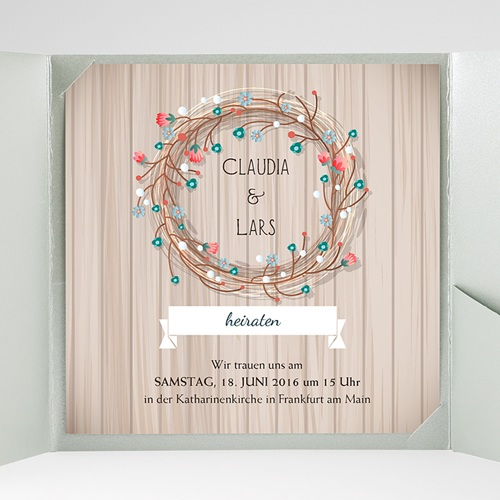Hochzeitskarten Quadratisch - Landhochzeit 38075 preview