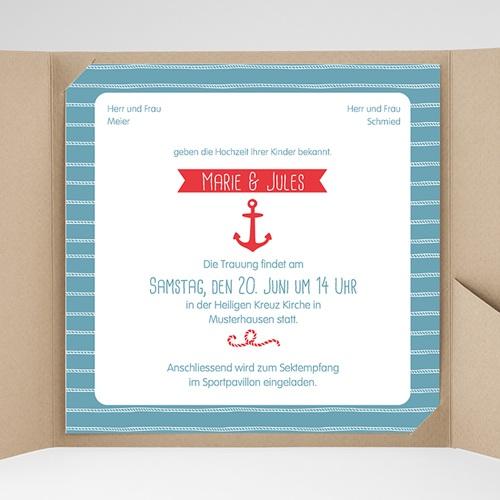 Hochzeitskarten Quadratisch - Hafen der Ehe 38081 preview
