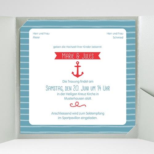 Hochzeitskarten Quadratisch - Hafen der Ehe 38083 preview