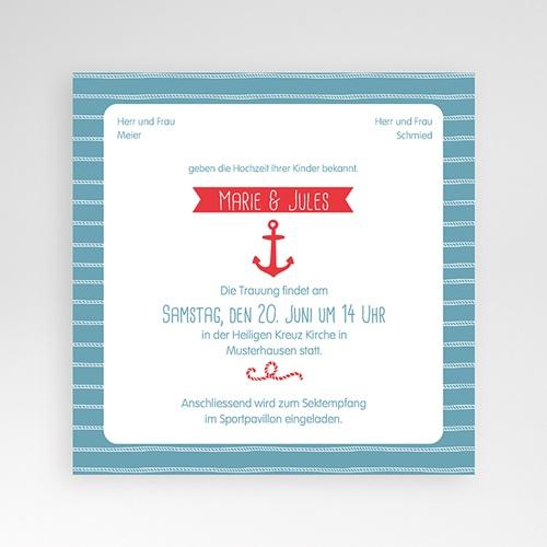 Hochzeitskarten Quadratisch - Hafen der Ehe 38084 preview