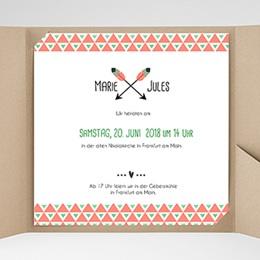 Hochzeitskarten Quadratisch Shabby Chic