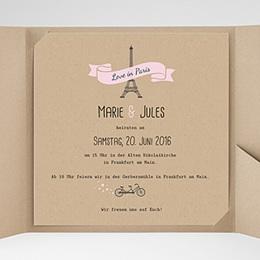 Hochzeitskarten Quadratisch Love in Paris